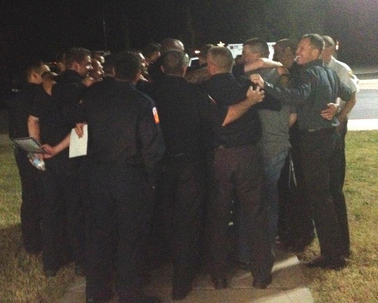 2014 AVFD Firefighters Outdoor Group Hug