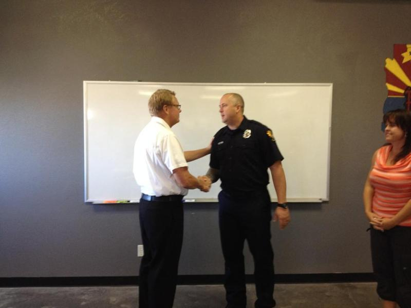 Capt Beatty Badge Pinning Oct 2014
