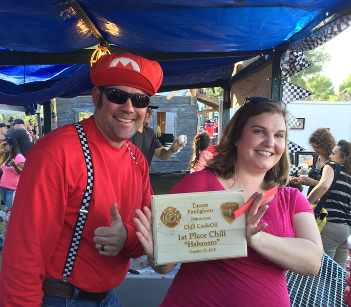 FF Bowden receives Chili Cookoff award