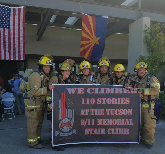 Lopez, Snodgrass, Rojas, Hirales 9-11 StairClimb