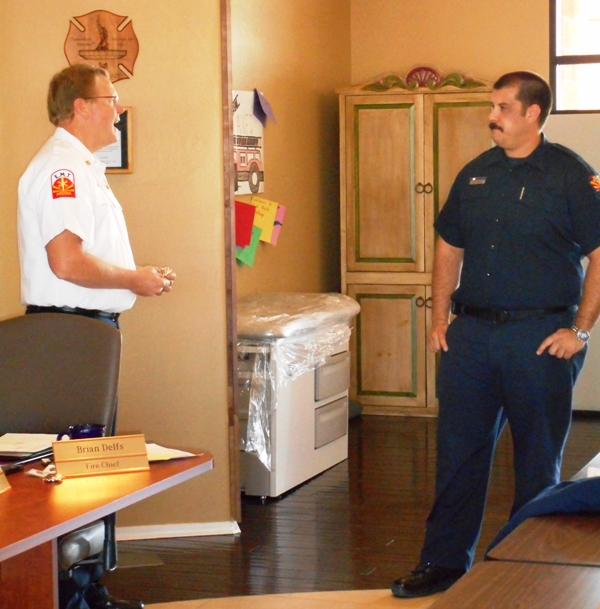 Jan 27, 2015 Captain Coody Badge Pinning (2)