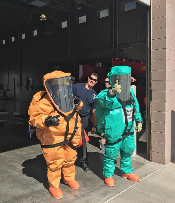 FF George & BacaCruz at HazMat Training