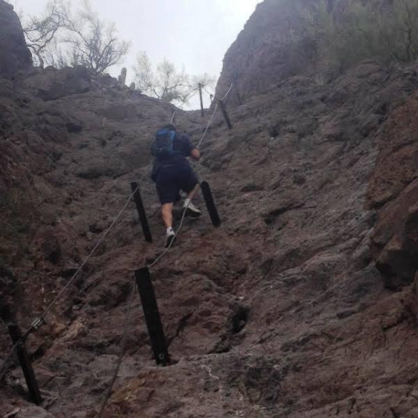 FF climbing the mountain