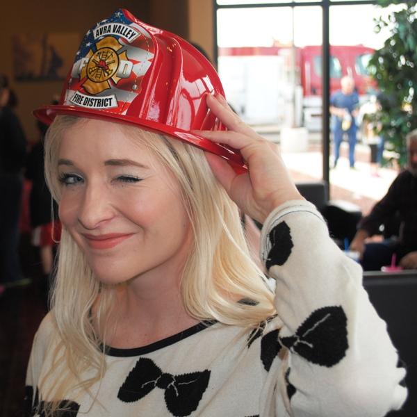 Mandy Delfs in Helmet
