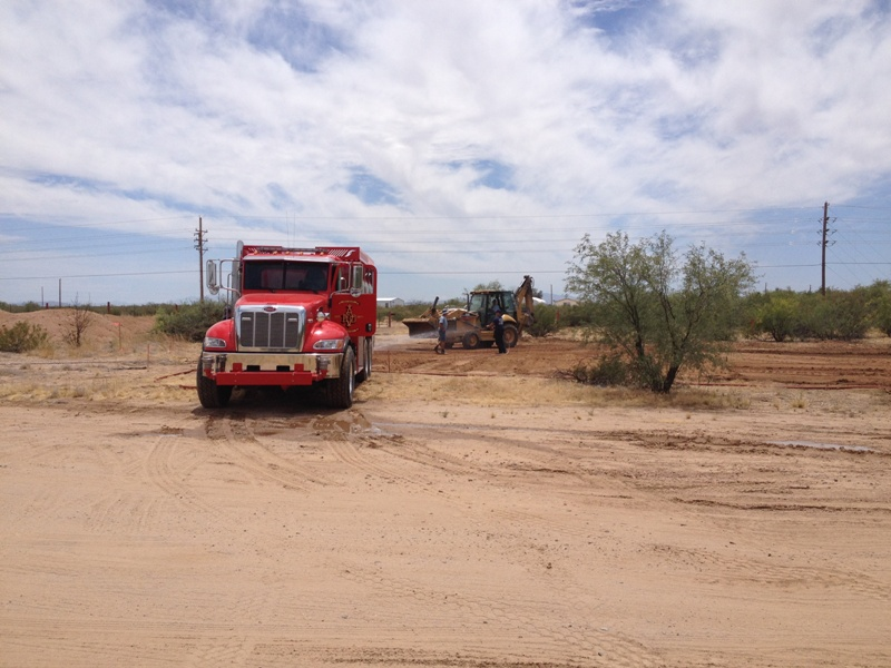 5-21-15  ST 192  apparatus on cleared land