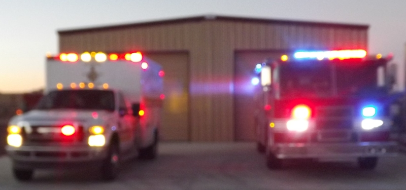 Engine and Ambulance at ST 194