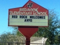 RR School Welcome Sign