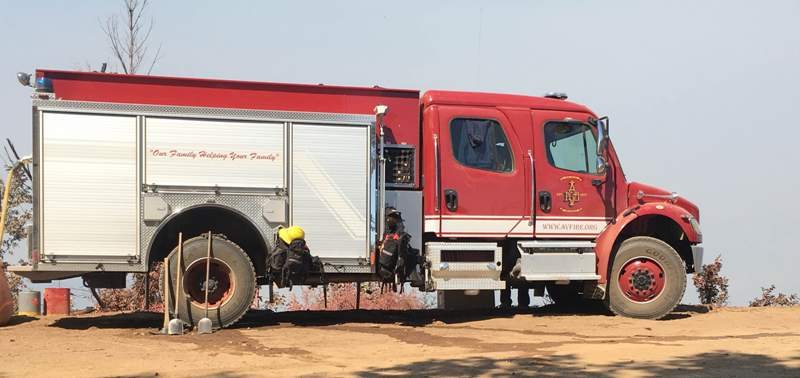 AVFD Truck at Soberanes Fire