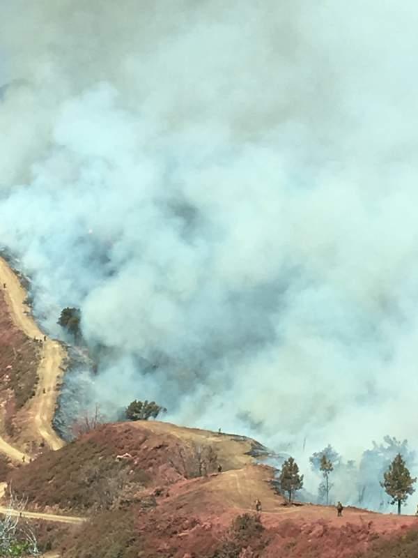 Soberanes smoke on ridge