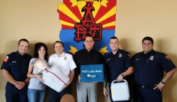 award of CPR training equipment 9-11-15