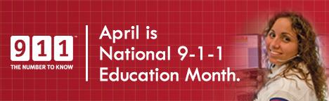 9-1-1 Education Month website banner